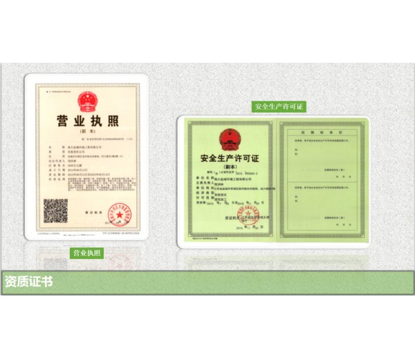 营业执照和安全生产许可证